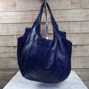 HOBO Brand Navy blue leather slouchy tote